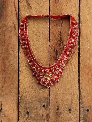 Red Crystal Bib Necklace