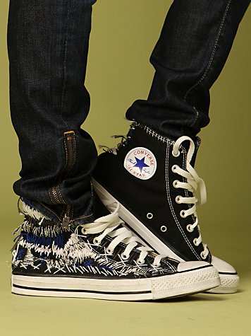 Hand Embroidered Converse