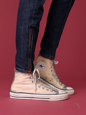 Distressed Overdyed Converse Hi Top