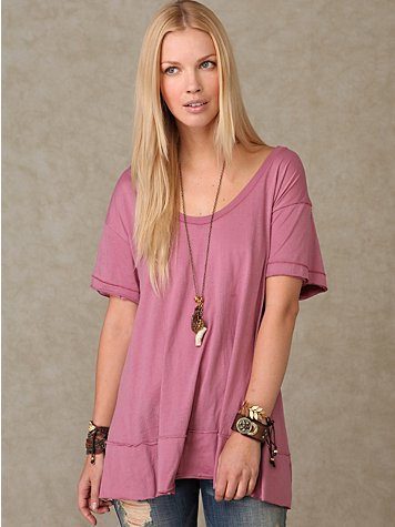 We the Free Solid Swept Away Tunic