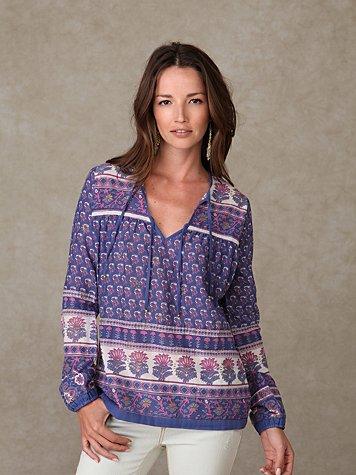 Beyond Vintage Long Sleeve Dashiki Shirt