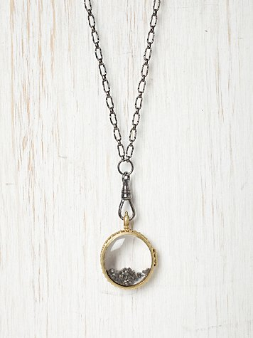Swallow Double Crystal Locket
