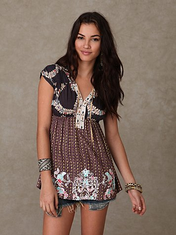 Short Sleeve Summer Fern Tunic