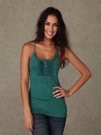 We the Free Ribbed Racerback Henley Tank