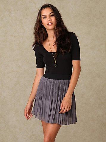 Mini Pleat Skirt