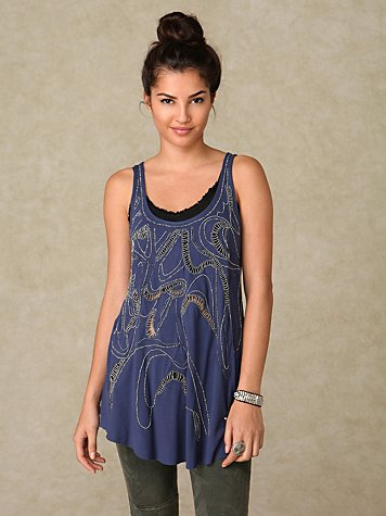 Diamonds and Pearls Tunic Tank