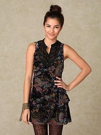 Silk Burnout Dress
