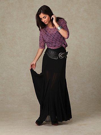 Solid Chiffon Skirt