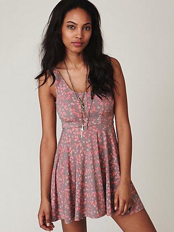 Sunbleach Floral Knit Dress