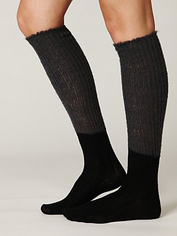 Slouchy Knit Tall Boot Sock