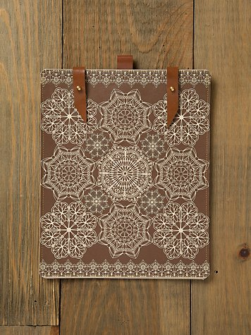 Snow Lace Leather iPad Case