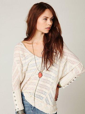 Boxy Sheer Stripe Pullover