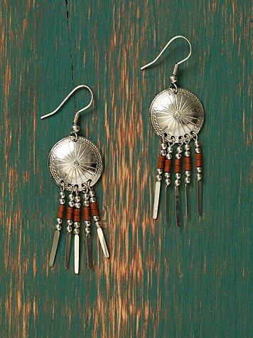 Concho Drop Earrings