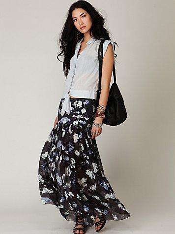Morning Glory Chiffon Skirt