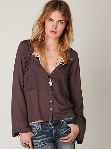 Bell Sleeve Lace Up