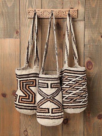 Pattern Mochila Woven Bucket