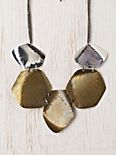 Pebbled Discs Necklace