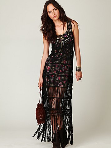 Birkin Fringe Maxi Dress