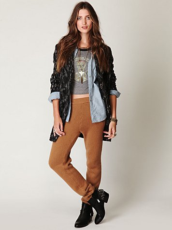 Slouchy Cuff Sweater Pant