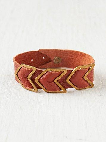 Chevron Leather Bracelet