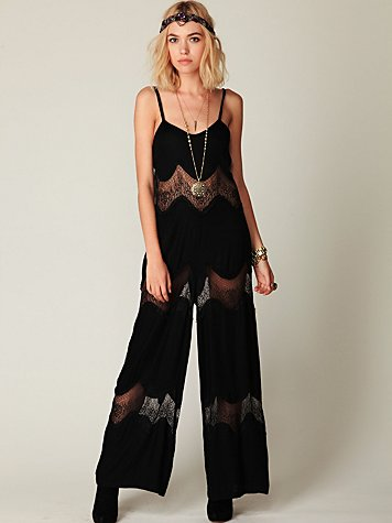 Solid and Lace Romper