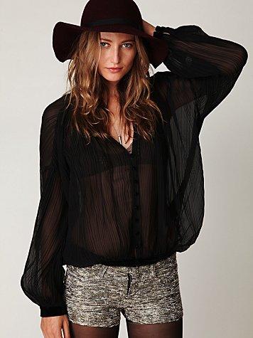 Metallic Tweed Short