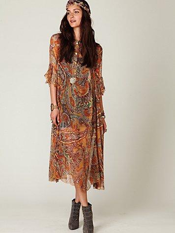 Sheer Paisleys Dress