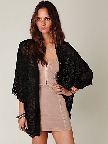 Burnout Silk Kimono