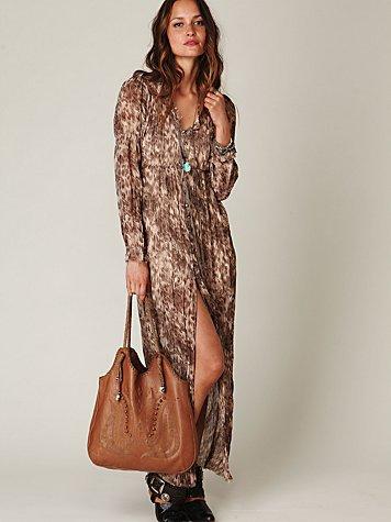 Dreamtime Leopard Maxi Dress