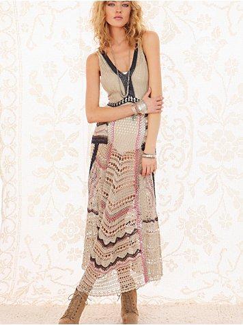FP Spun Eighty Stages Crochet Dress