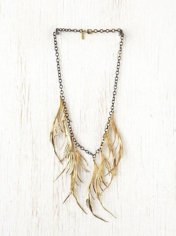 Brass Feather Bib