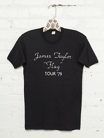Vintage Studded 1979 James Taylor Tee