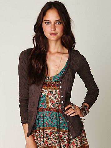 Gypsy Buttonfront Long Sleeve Top