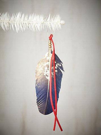 Aziza Golden Feather Ornament