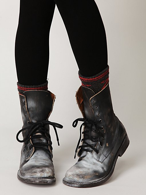 Painted Distress Boot