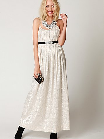 FP New Romantics Foiled Maxi Dress