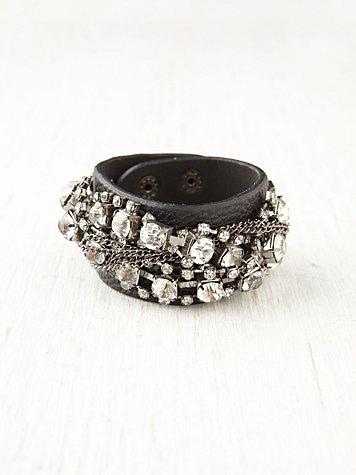 Tangled Stone Leather Cuff