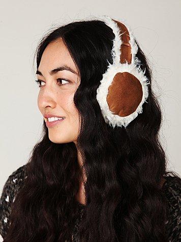 Frida Faux Sheepskin Earmuffs