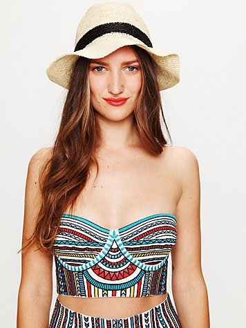 Embroidered Bustier Top