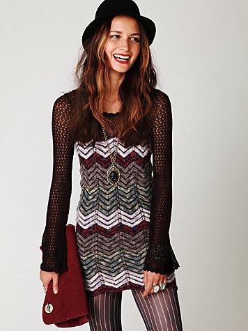 Chevron Sweater Dress