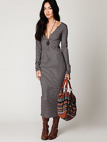 Costas Striped Maxi Dress