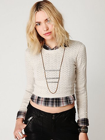 Sheer Stripe Pullover