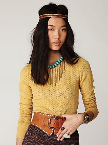 Sheer Stripe Pullover