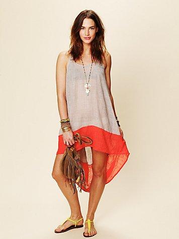 Hi Low Color Block Dress