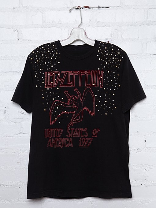 Vintage Studded Led Zeppelin Tee