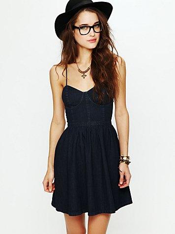 Denim Bustier Dress