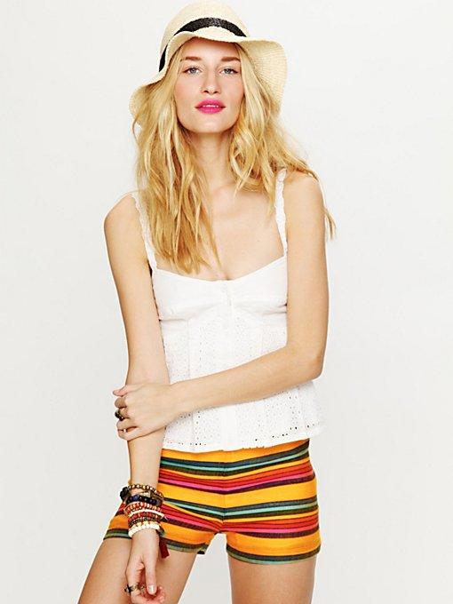 High Waisted Baja Stripe Shorts