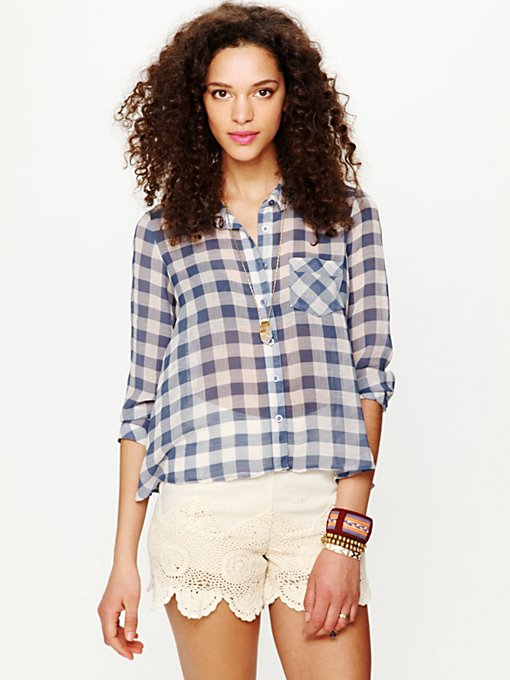 Sweet Spring Gingham Buttondown