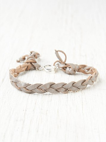 Slate Braided Bracelet