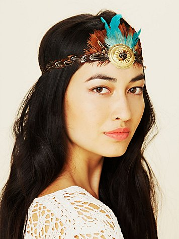 Gilded Feather Headdress